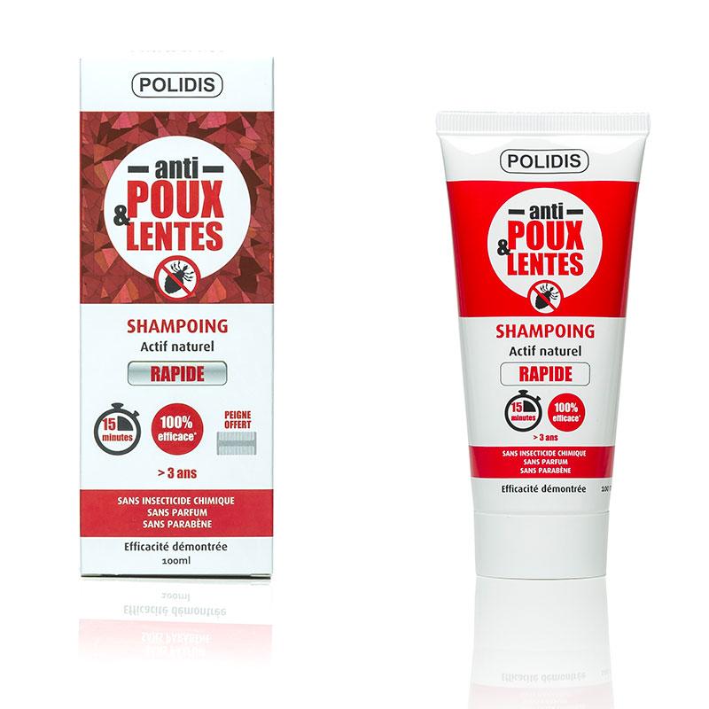 Tube de shampoing anti-poux et lentes Polidis