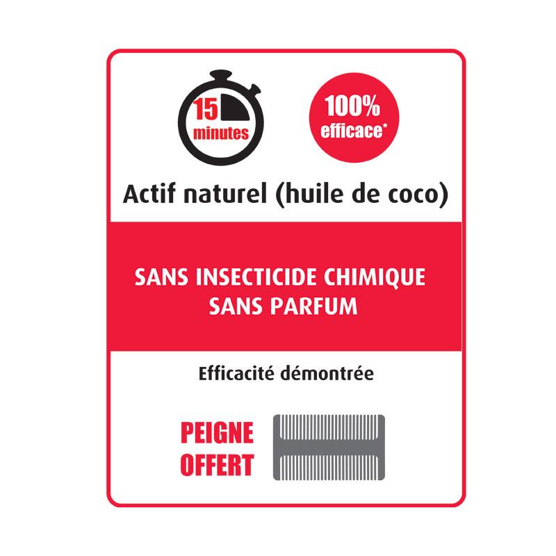 Instructions anti-poux et lentes Polidis